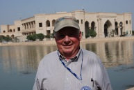 Bill in front of Saddam Hussein's Al-Faw Palace